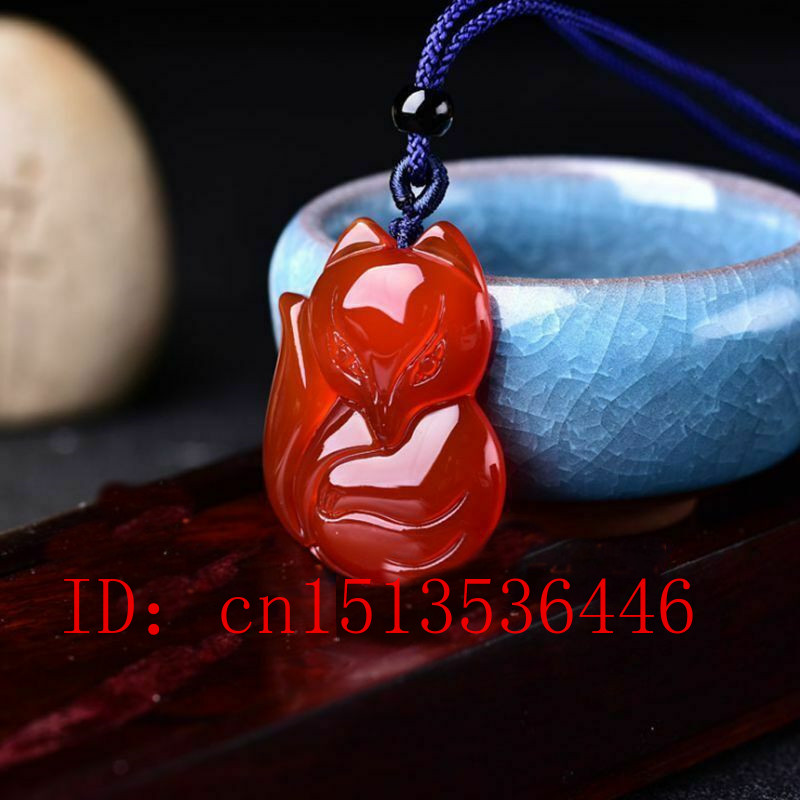 Natural Red Agate Hand Engraving Fox Exorcise Evil Spirits Pendant Lucky Amulet Fashion Hand-Carved Man Woman Luck  New