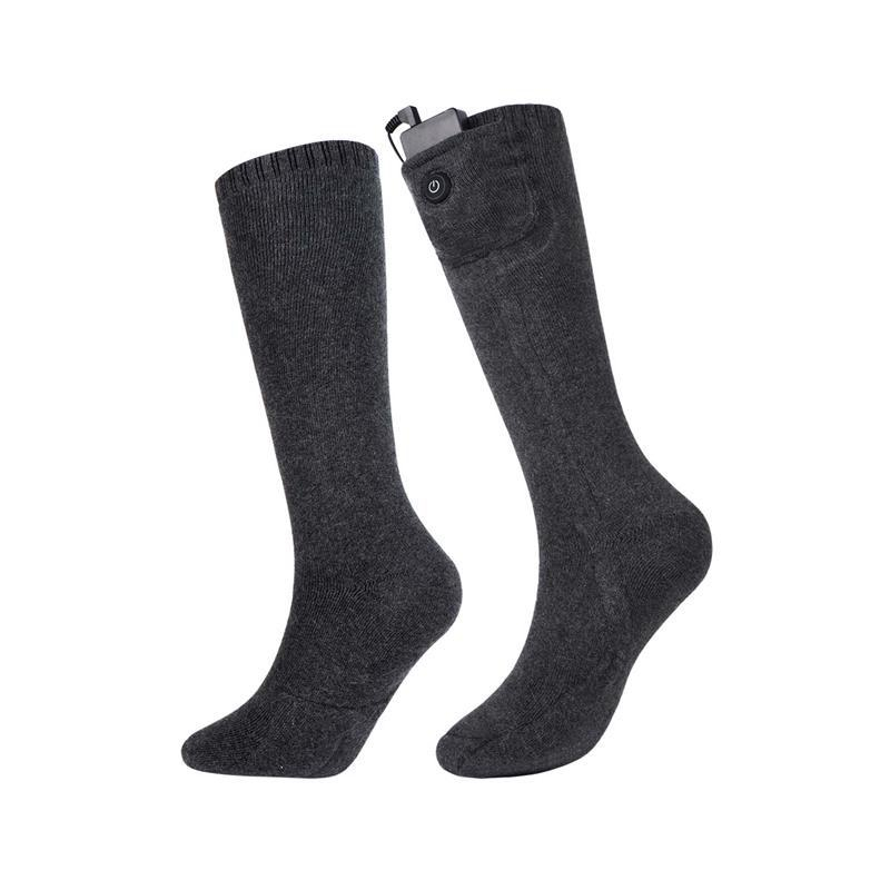 Electric Heated Socks With Heated Battery Rechargeable Winter Warm Socks Men Women Electric Heated Socks For Ski Hiking