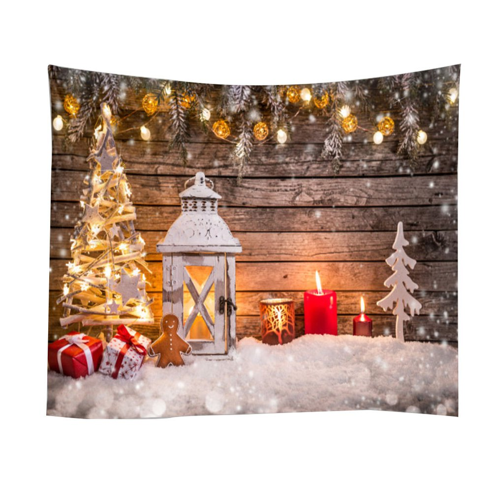 Christmas Tapestry Wall Background Cloth Christmas Santa Claus Home Hanging Cloth Bedroom Living Room Decoration Cloth