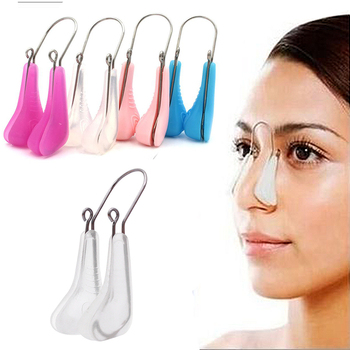 1pc Soft Silicone Nose Clip Corrector Nose Shaper Lifting Clip Bridge Shaping Corrector Nose Up Slimming Massager Beauty Tools 1