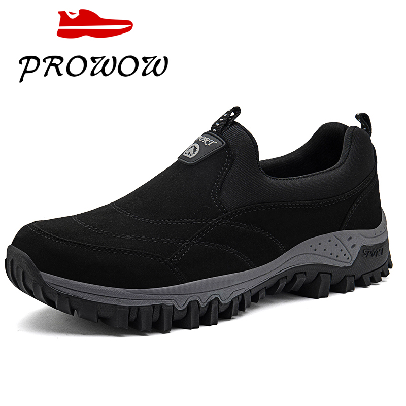2019 Big Size 37-46 Fashion Men Hiking Shoes Comfortable Outdoor Walking Casual Shoes Lace-Up Autumn Winter Men Rubber Sneakers