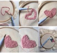 Aguja de punzón ajustable para costura, Alfombra de juego aguja para hilo, bolígrafo para bordar, enhebrador, herramienta DIY