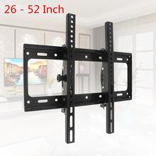 50KG ayarlanabilir TV duvar montaj aparatı düz Panel TV çerçeve 15 derece eğim seviye 26   52 inç LCD LED monitör düz tava