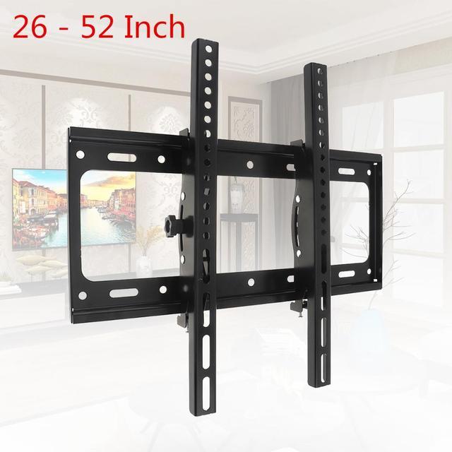 Soporte de montaje en pared ajustable para TV, 50KG, marco de TV de Panel plano, inclinación de 15 grados con nivel para Monitor LCD LED de 26   52 pulgadas