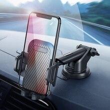 Moblie Phone Holder Car Air Vent Parabrezza del Supporto Dellautomobile Del Basamento Del Telefono di 360 in Fibra di Carbonio Smartphone Supporto Per Auto Supporto in auto
