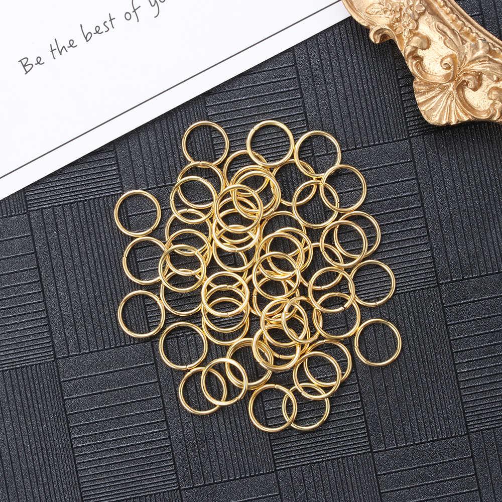 100/200 pces/lot 3-16mm anéis de salto prata split anéis conectores para diy jóias encontrando fazendo acessórios suprimentos por atacado