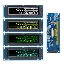"""1 pièce réel OLED affichage 3.12 """"256*64 25664 points graphique LCD Module écran daffichage LCM écran SSD1322 contrôleur Support SPI"""