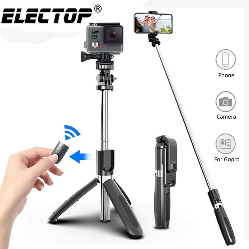 Electop Wireless bluetooth Selfie Stick Tripod Foldable Tripod Monopods Universal for SmartPhones for Gopro Sports Action Camera image