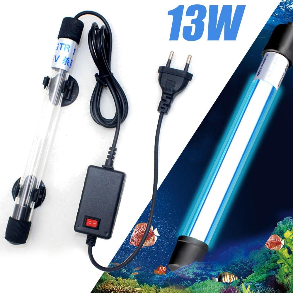 13W Aquarium UVC Lamp Lights Sterilizer UV Lamp Aquarium Lighting Fish Tank Bactericide Disinfection Water Treatment Purifier