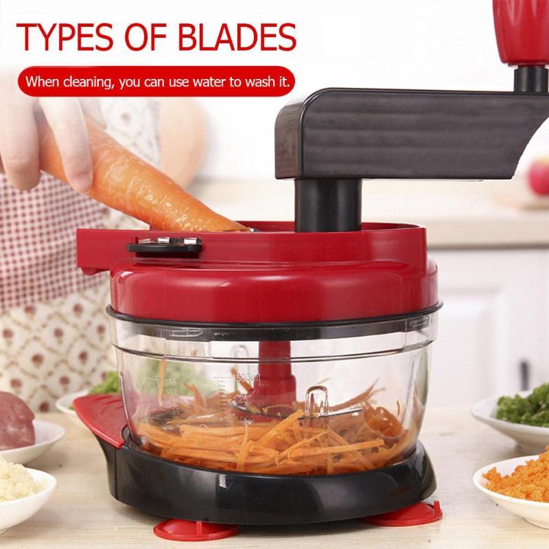 Ev ve Bahçe'ten Manuel Et Kıyma Makineleri'de Çok fonksiyonlu manuel kıyma makinesi sebze meyve kesici patates dilimleyici soyucu havuç rende mikser mutfak Gadget title=