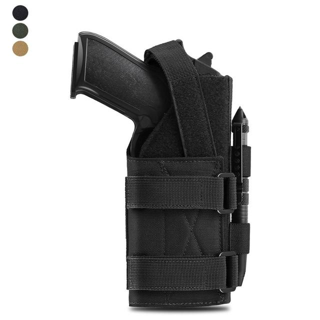 Tactical Molle Gun Holster Belt Pistol Holster for Universal Handgun Beretta Revolver Glock 1911 17 92 96 Airsoft Shotgun Pouch 1