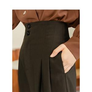 Image 4 - INMAN 2020ใหม่วรรณกรรมRetroสไตล์สูงเอวหลวมแครอทสไตล์ผู้หญิงสวมใส่ผู้หญิงCausalกางเกง