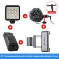 Дополнительный 3 5 мм адаптер для микрофона PGYTECH крепление для смартфона крепление для холодного башмака 49 светодиодный светильник микрофон...