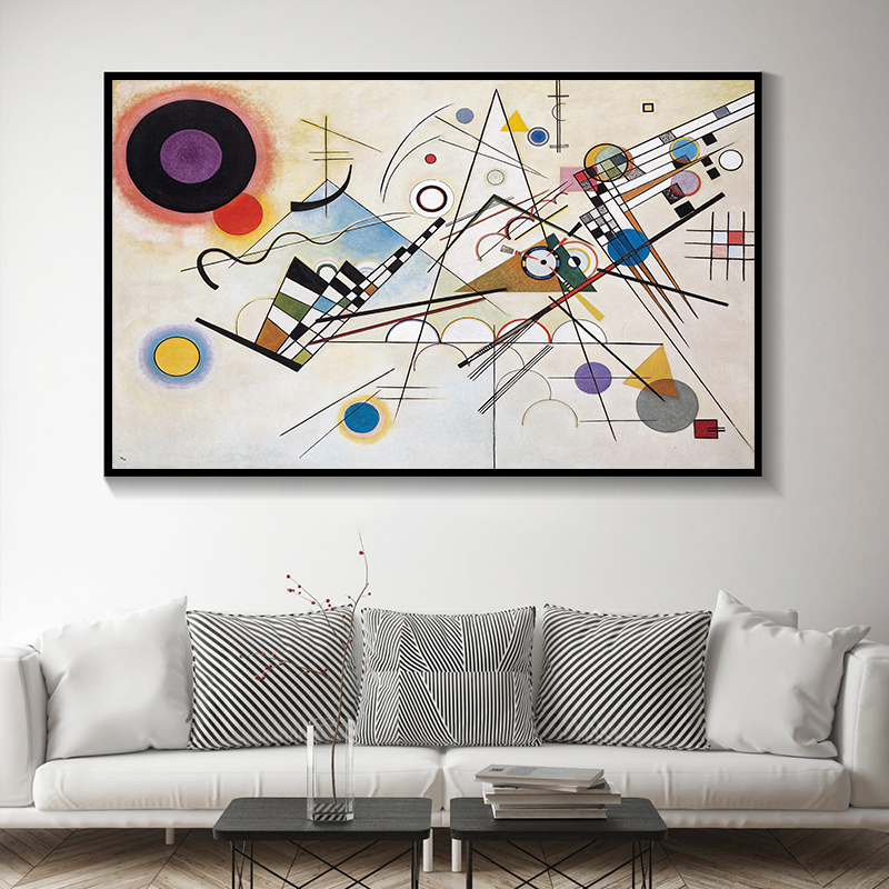 Canvas Print Wassily Composition Abstract Wall Art Digital Painting Unframed