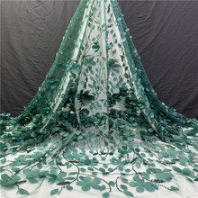 African sequins 3D Tulle Lace Fabric 2019 French High Quality Nigerian Embroidery A1-1230