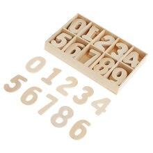 60 шт полностью деревянные цифры украшения для рукоделия diy