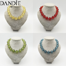 Dandie Fashionable acrylic cut bead necklace, sweet, simple female accessories