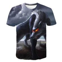 Animal Wolf camiseta impresa en 3D moda masculina streetwear cuello redondo manga corta top 2021 verano nuevo