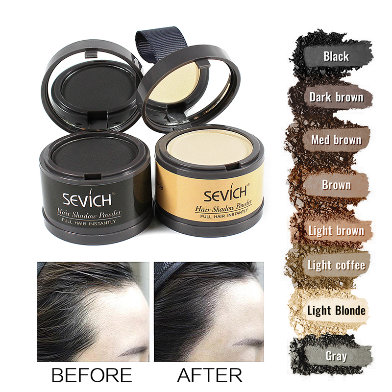 Sevich Hairline Powder 4g Hairline Shadow Powder Makeup Hair Concealer Natural Cover Unisex Hair Loss Product