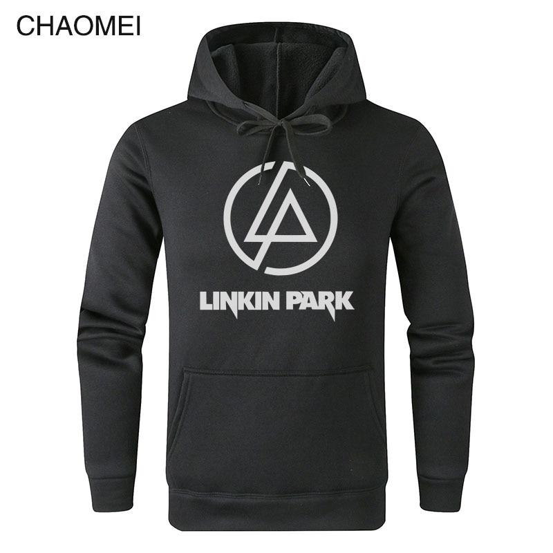 Men New Style Hoodies Linkin Park Sweatshirts Hip Hop Lincoln Rock Men's Long Sleeve Warm Fleece Fashion Casual Hoody C104