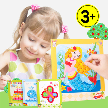 new kindergarten arts crafts diy toys Button Puzzle Stickers crafts kids educational for children's toys girl/boy christmas gift new kindergarten lots arts crafts diy toys creative cartoon nonwoven fabric glove crafts kids finger educational for children s toys fun party diy decorations girl boy christmas gift 18903