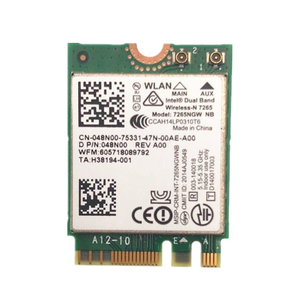 For Intel Dual Band Wireless-N 7265 7265NGW NB 802.11N 2 X 2 WiFi 300Mbps NGFF M.2 Card 7265NB 2.4G / 5G