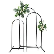 New wedding props layout arched arch stage background welcoming ornaments road lead decorative wedding ironwork flower frame