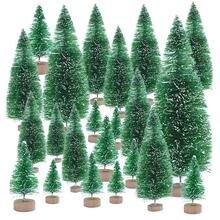 Petit arbre de noël de 6.5 à 16cm, faux arbre de pin artificiel, décoration de maison