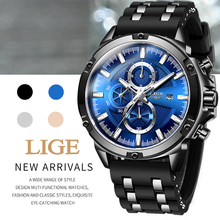 Top Luxury Brand LIGE Chronograph Mens Watches Hot New Fashi