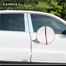 Venda 10m porta do carro borda guardas tira u-forma de vedação de fibra de carbono portas laterais molduras scratch protector acessório do carro dropshipping