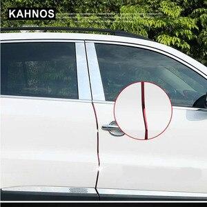 Image 1 - VERKAUF 10M Auto Tür Rand Guards Streifen U Form Carbon Fiber Dichtung Seite Türen Formteile Scratch Protector Auto zubehör Dropshipping