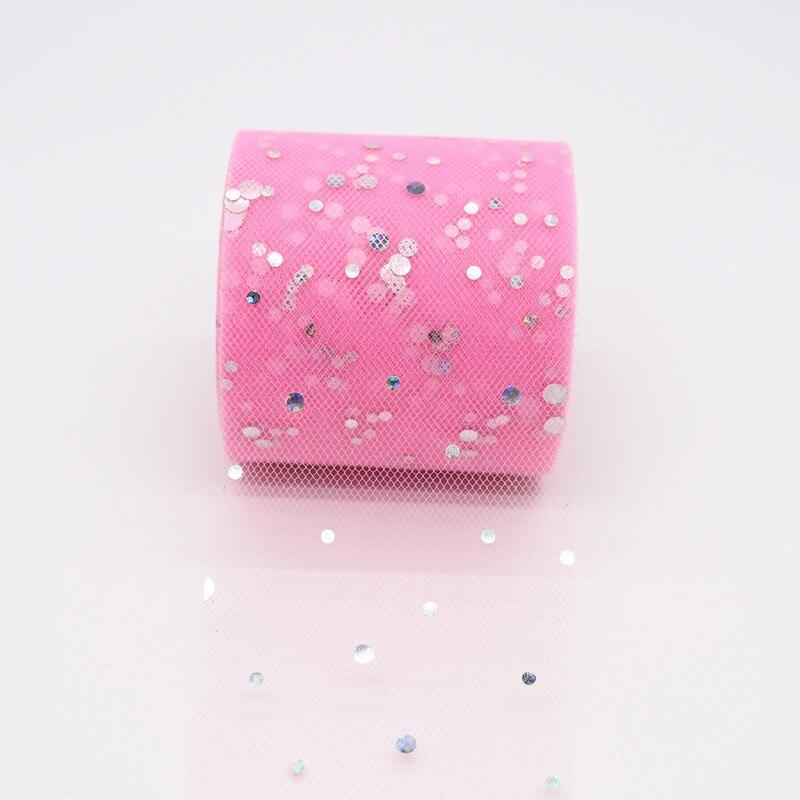 25 ярдов/рулон 6,5 см блеск рулон тюля с блестками Свадебные украшения кружева, тюль, платье-пачка «сделай сам» из органзы Baby Shower вечерние поставки - Цвет: AQ41