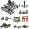 Военная игрушка, модель, экшн-фигурка, пластиковые солдаты, армия, мужские фигурки, 12 поз, солдаты, самолет, танки, башня, подарок для детей и м...