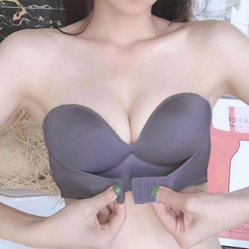 Front Closure Sexy Push Up Bra   Strapless Seamless Brassiere 4