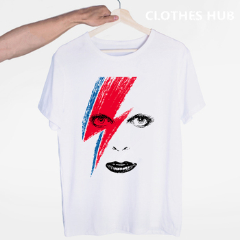 Rip David Bowie T Shirt Men/women England Rock Music Pop Star T-shirt Funny Printed Tshirt Unisex Hip Hop Top Tees Male/female magic u t shirt dungeons dragons dnd novelty 70s 80s arcade game punk cool t shirt funny rock pop women men top