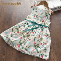 Bear Leader-Vestido Floral para niña, vestidos florales para niña, Vestido de princesa para niña, ropa para niña, ropa informal para niña de 3 a 7 años