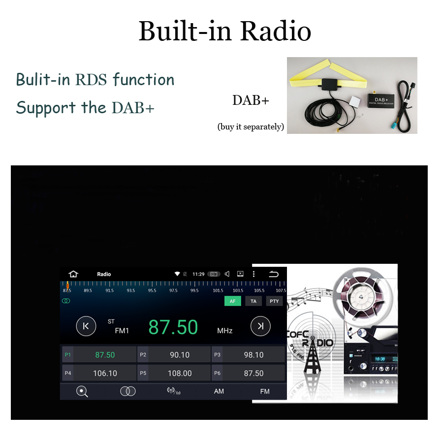 Image 5 - DSP Android 9.0 4G RAM Car DVD multimedia Player RDS Radio GPS map Bluetooth 5.0 WiFi For HYUNDAI Verna Accent Solaris 2011 2015Car Multimedia Player   -