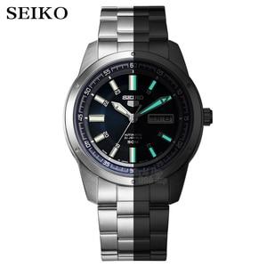 Image 2 - Seiko שעון גברים 5 אוטומטי שעון למעלה יוקרה מותג ספורט גברים שעון סט גברים שעון עמיד למים שעון relogio masculino SNZG15J1