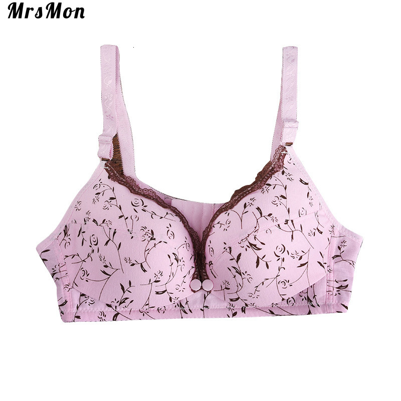 Maternity Dress For Pregnant Women Nursing Bra Pregnancy Clothes Printed Cotton Lace Side Pregnant Pregnant Breast-feeding Bra