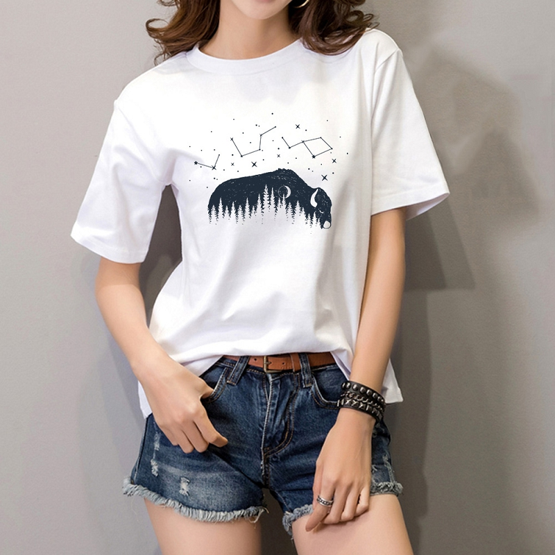 Summer Short Sleeve Top Funny Design Print T Shirt For Women Top Tees Female Fashion 90s Harajuku Ullzang O-neck Tshirt
