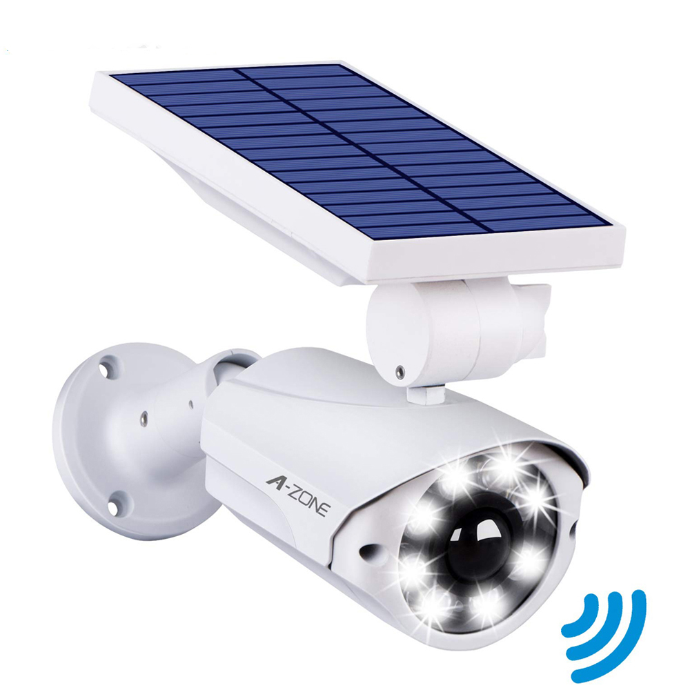 Outdoor Solar Powered Waterproof Fake Camera Dummy CCTV Security Surveillance Flashing Red LED Light Video Anti-theft Camera image