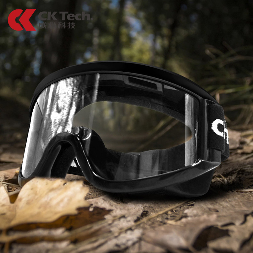 CK Tech. Black Safety Goggles High-definition Anti-fog Protective Glasses Sport Cycling Dust-proof Work Eyewear Anti-shock