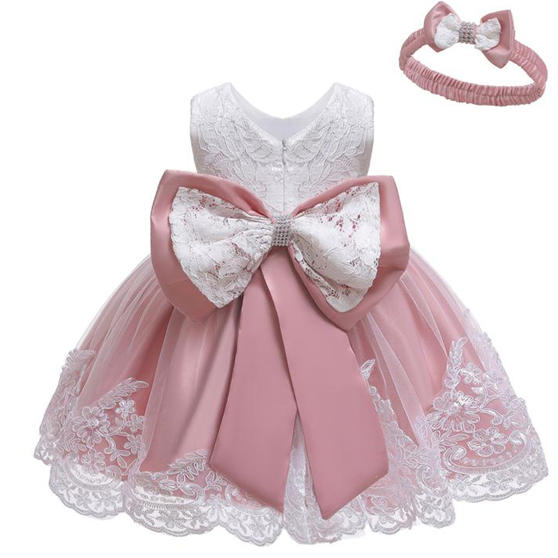 Одежда для новорожденных платья для маленьких девочек платье принцессы на свадьбу детское кружевное платье на 1-й День рождения 3 9 12 18 24 меся...
