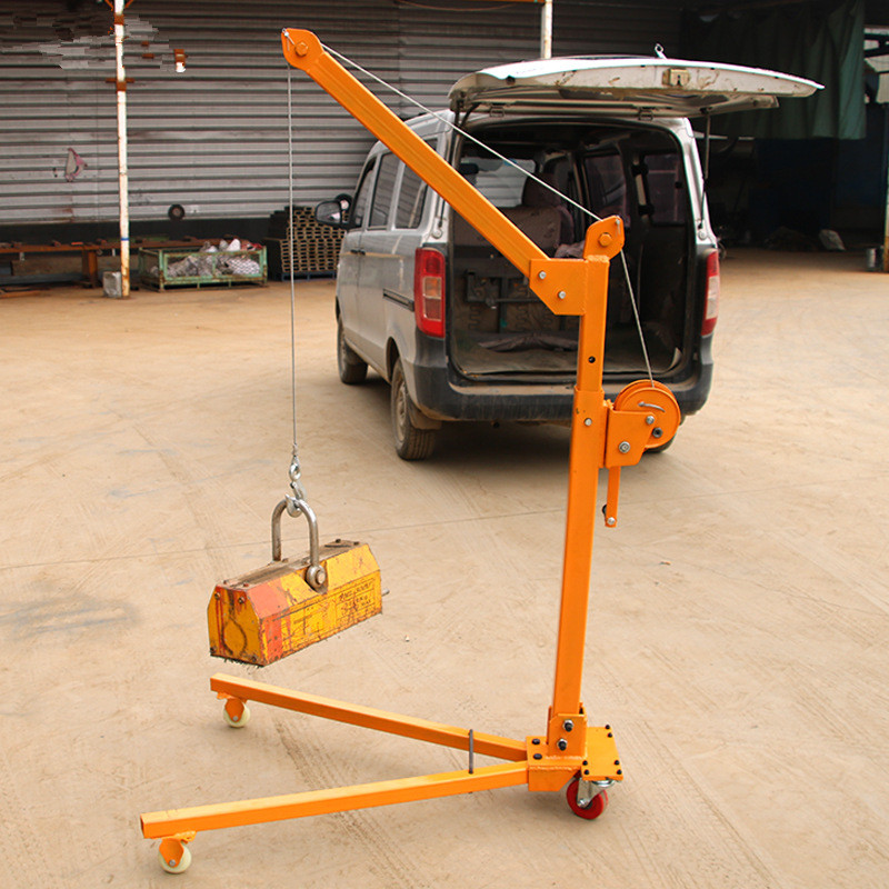 Hand Mobile Folding Small Crane Mini Portable Crane Small Crane Lifting Tool 200KG-500KG
