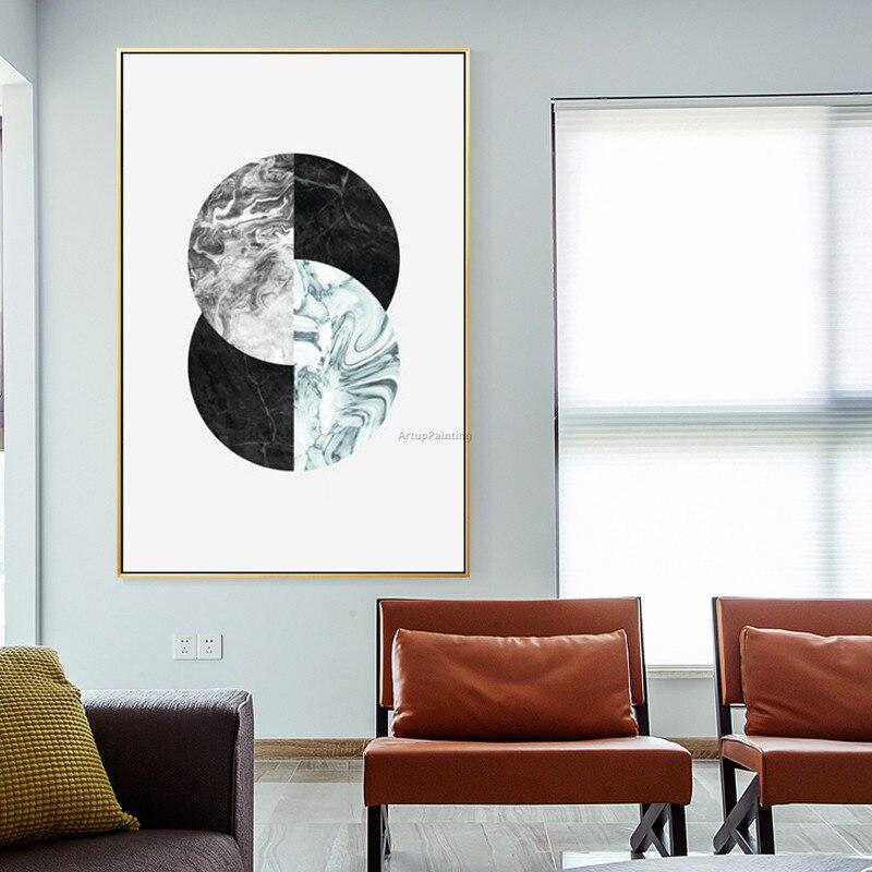 Geometrische Postmodernen ölgemälde handgemalte moderne kunst leinwand malerei für wohnzimmer wand - 5