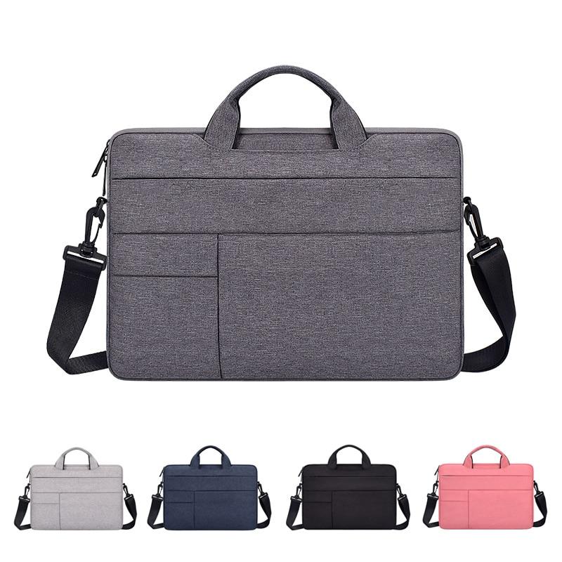 Laptop Bag 13.3inch 15.6inch Waterproof Notebook Bag Sleeve For Macbook Air Pro Computer Shoulder Handbag Briefcase Bag