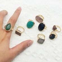 Momiji vintage aberto anéis para as mulheres charme natural pedra anéis temperamento feminino jóias presentes festa de casamento anéis ajustável
