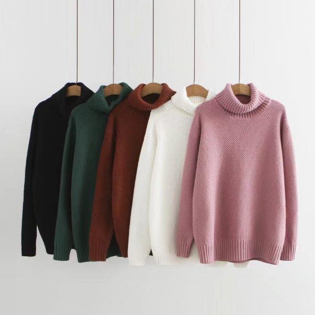 2020 Women Sweters Korean Pullover Turtleneck Top Femme Women's Sweater Roupas Feminina Knitwear Woman Clothes KJ160         's