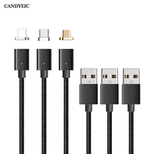 CANDYEIC Micro USB Cable Magnetic Charger For Samsung Xiaomi Huawei Sony Android Mobile Phone Fast Charge Magnet Data Cable Wire