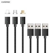 CANDYEIC מיקרו USB כבל מגנטי מטען עבור סמסונג Xiaomi Huawei Sony אנדרואיד טלפון נייד תשלום מהיר מגנט נתונים כבל חוט